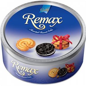 Bánh hộp thiếc tròn Remax 300g